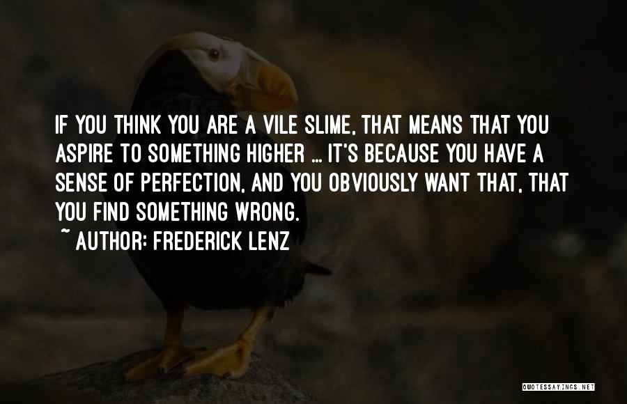 Aspire Higher Quotes By Frederick Lenz