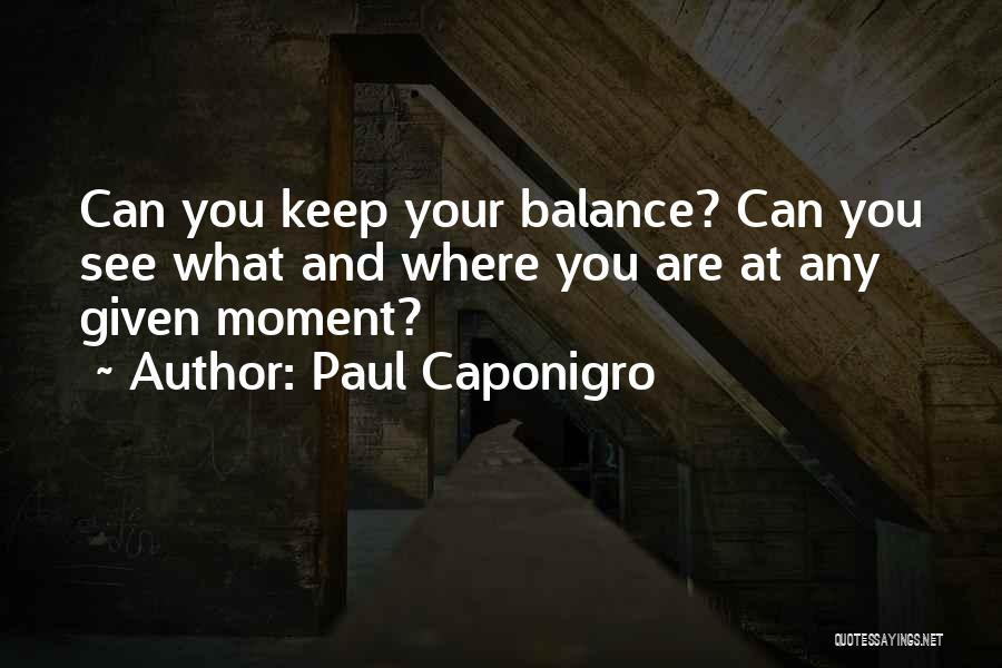 At Any Given Moment Quotes By Paul Caponigro