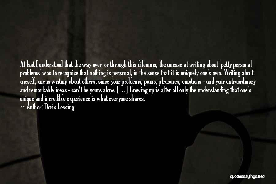 At Last Alone Quotes By Doris Lessing