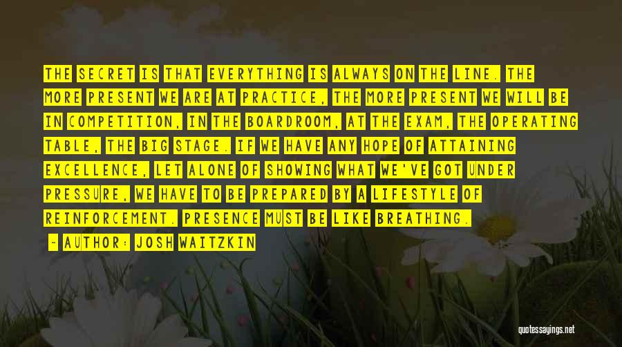 Attaining Excellence Quotes By Josh Waitzkin
