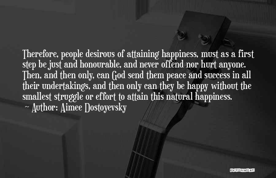 Attaining Success Quotes By Aimee Dostoyevsky