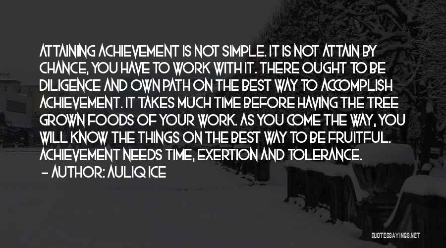 Attaining Success Quotes By Auliq Ice