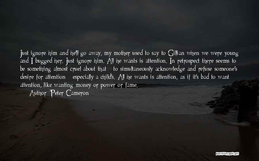 Attention Wanting Quotes By Peter Cameron