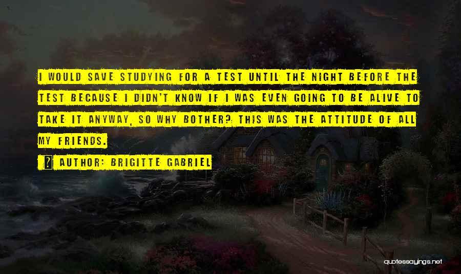 Attitude Friends Quotes By Brigitte Gabriel