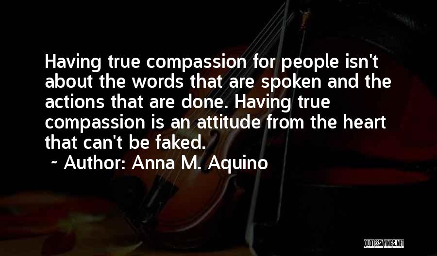 Attitude In The Bible Quotes By Anna M. Aquino