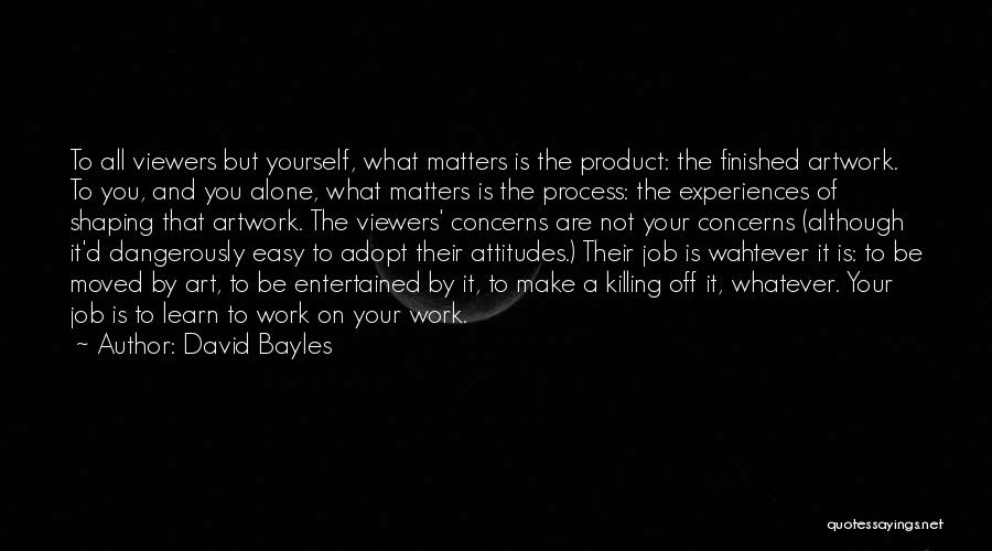 Attitude Is All That Matters Quotes By David Bayles