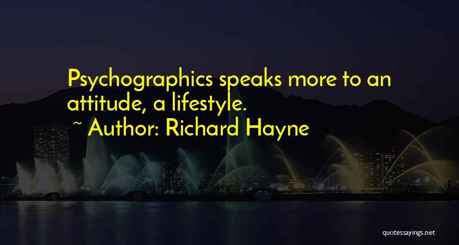 Attitude Speaks Quotes By Richard Hayne