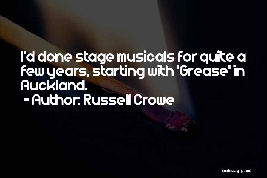 Auckland Quotes By Russell Crowe