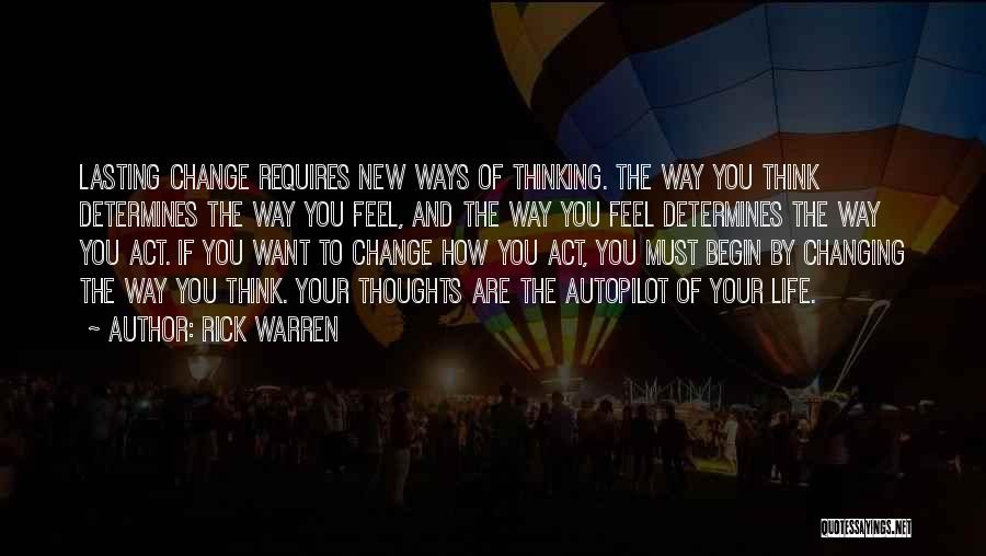 Autopilot Quotes By Rick Warren