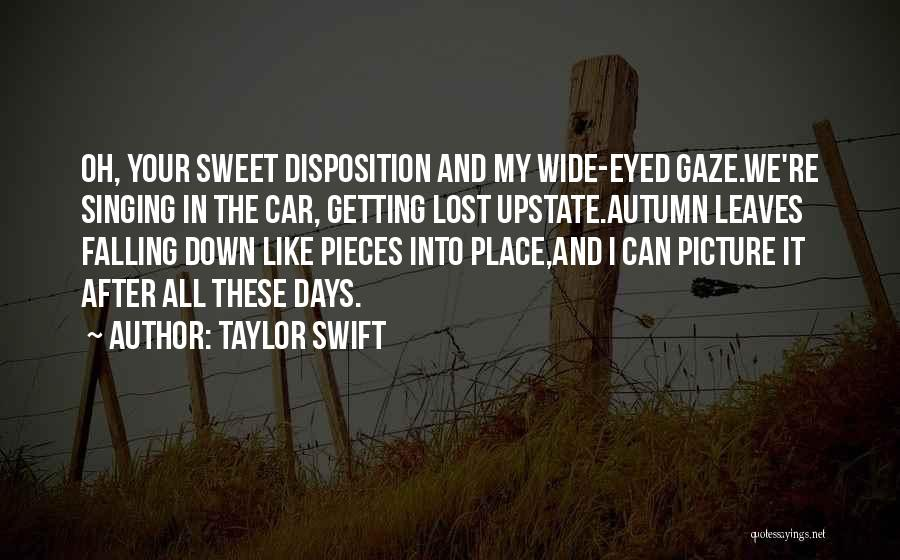 Autumn Leaves Falling Quotes By Taylor Swift