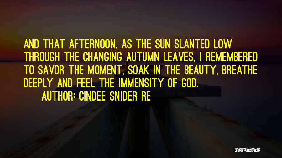 Autumn Leaves Quotes By Cindee Snider Re