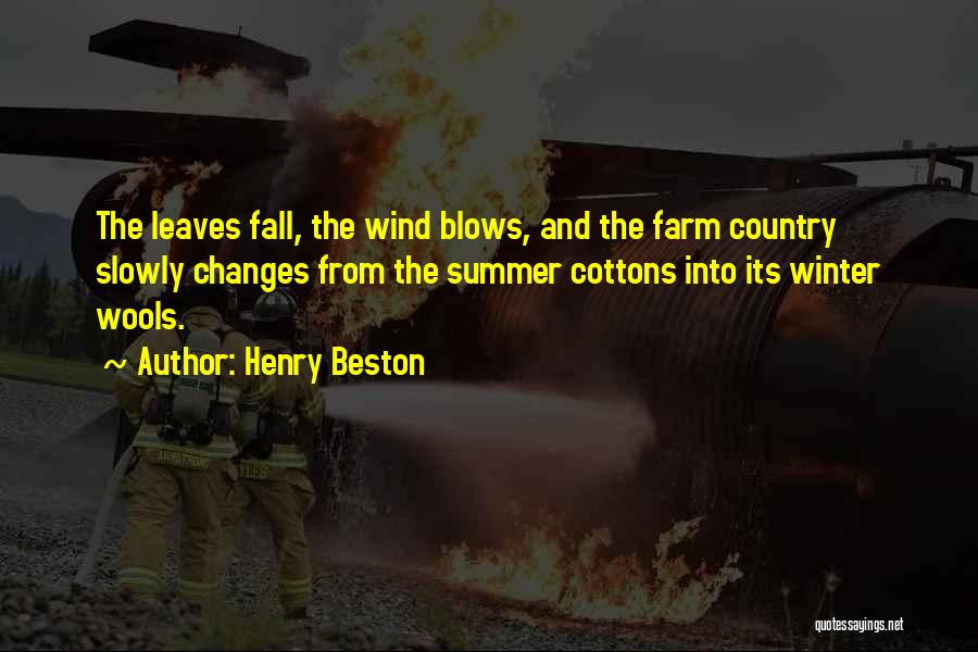 Autumn Leaves Quotes By Henry Beston
