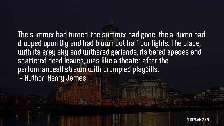 Autumn Leaves Quotes By Henry James