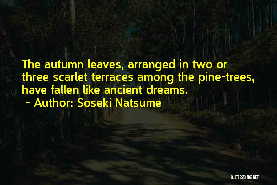Autumn Leaves Quotes By Soseki Natsume