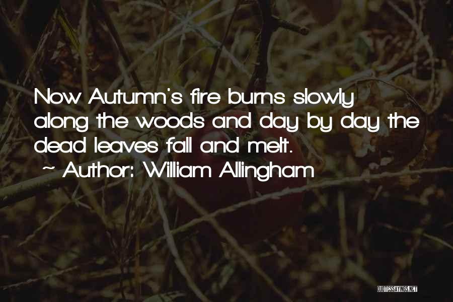 Autumn Leaves Quotes By William Allingham