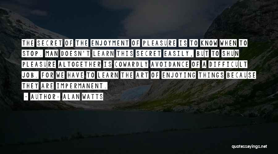 Avoidance Quotes By Alan Watts
