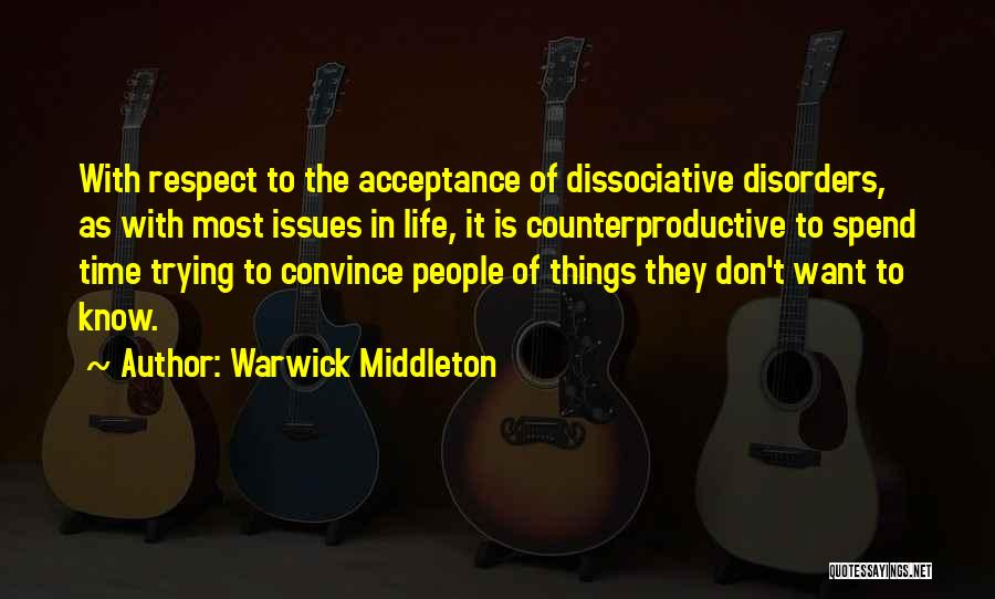Avoidance Quotes By Warwick Middleton