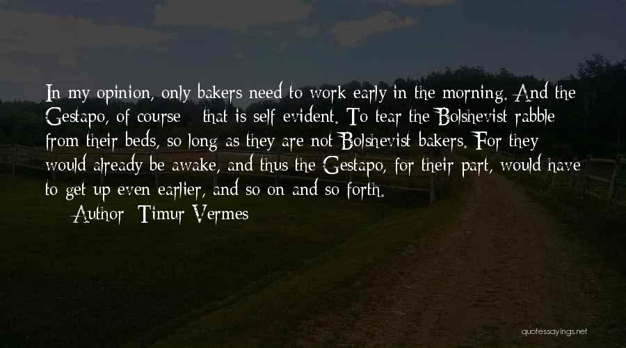 Awake Early Quotes By Timur Vermes