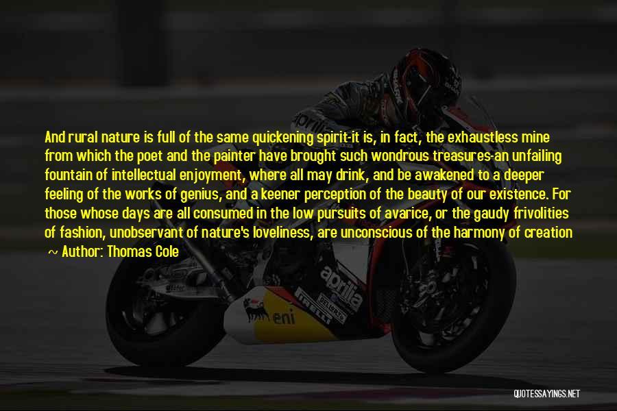 Awakened Spirit Quotes By Thomas Cole