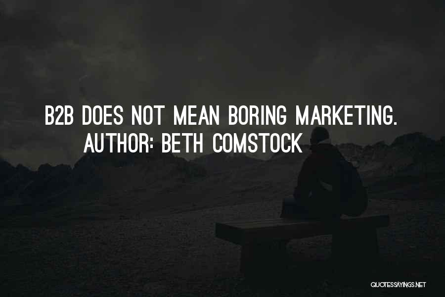 B2b Quotes By Beth Comstock