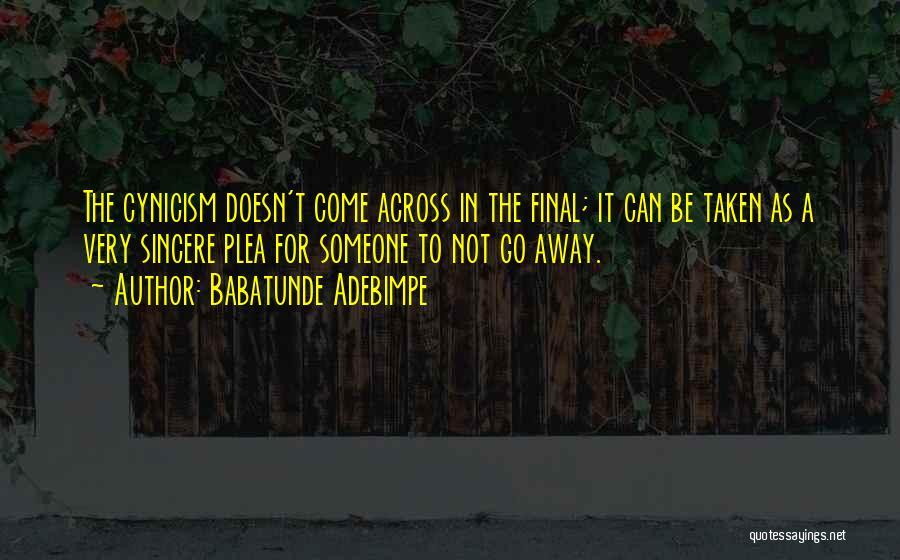 Babatunde Adebimpe Quotes 1712757