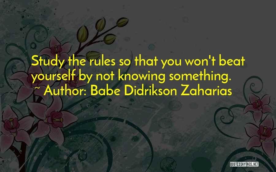 Babe Didrikson Zaharias Quotes 510658