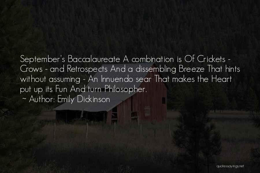 Baccalaureate Quotes By Emily Dickinson