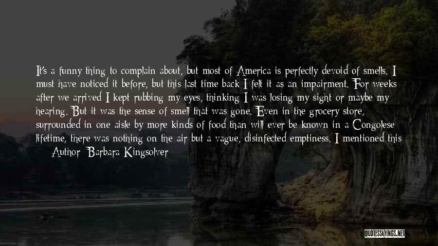 Back After A Long Time Quotes By Barbara Kingsolver