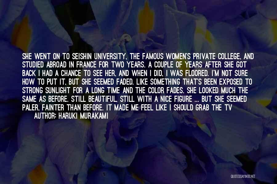 Back After A Long Time Quotes By Haruki Murakami