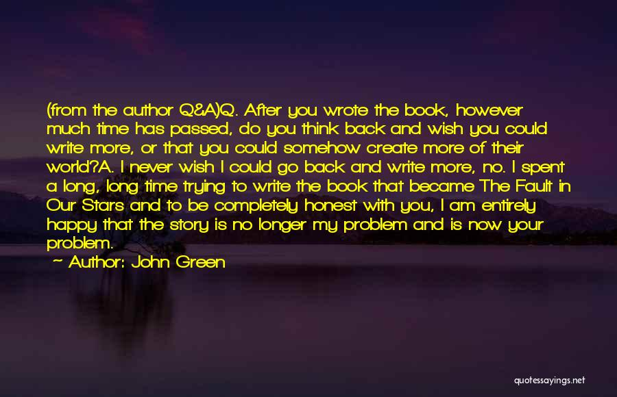 Back After A Long Time Quotes By John Green