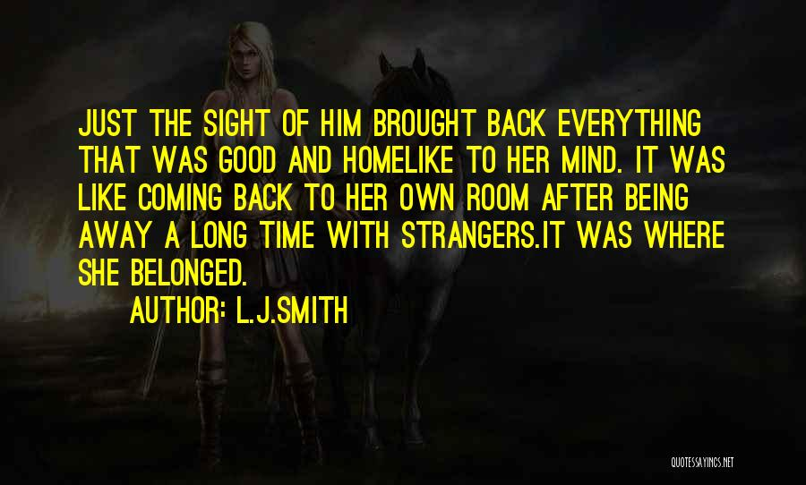 Back After A Long Time Quotes By L.J.Smith
