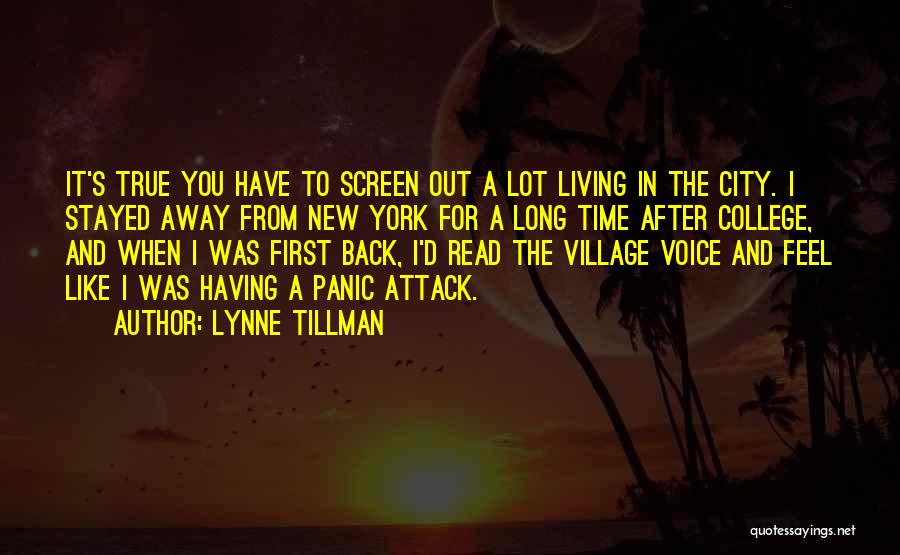 Back After A Long Time Quotes By Lynne Tillman