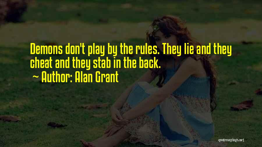 Back Stab Quotes By Alan Grant