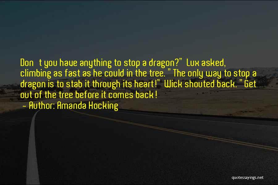 Back Stab Quotes By Amanda Hocking