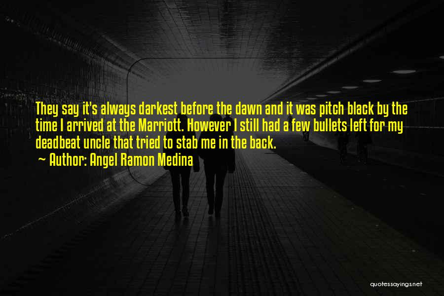 Back Stab Quotes By Angel Ramon Medina