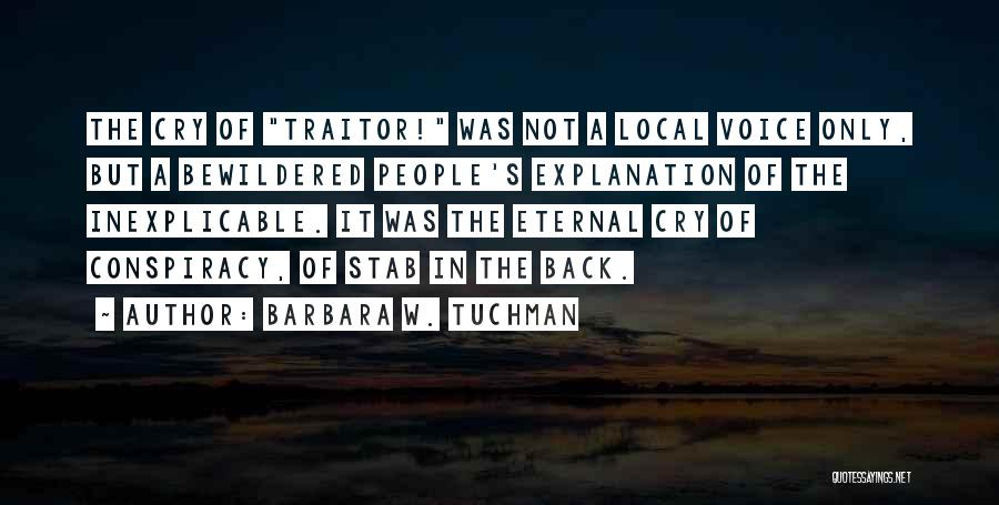 Back Stab Quotes By Barbara W. Tuchman
