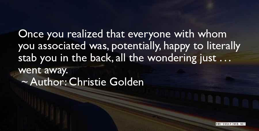 Back Stab Quotes By Christie Golden