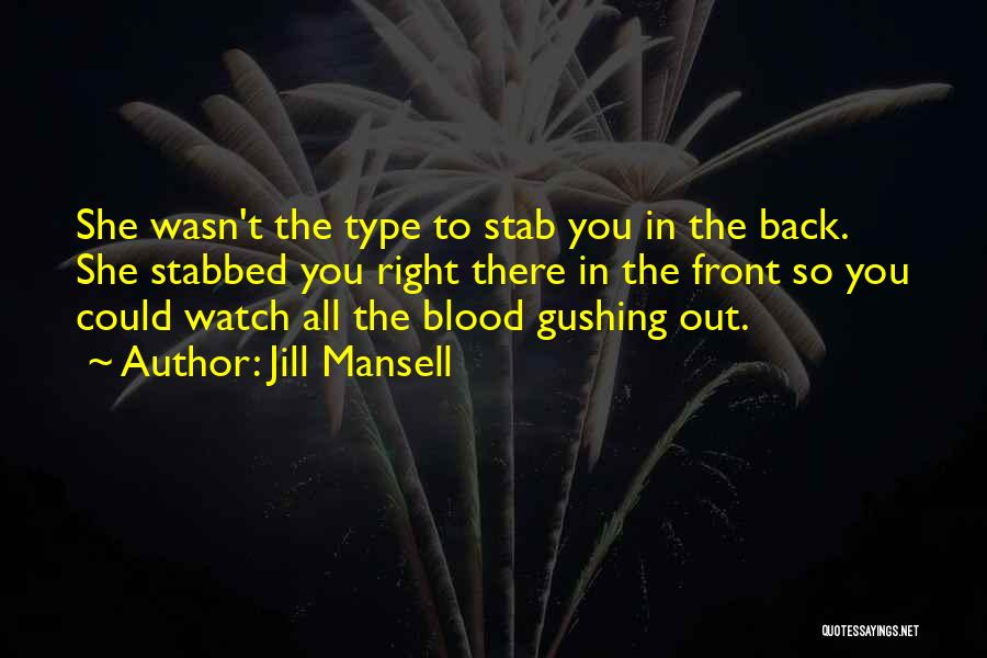 Back Stab Quotes By Jill Mansell