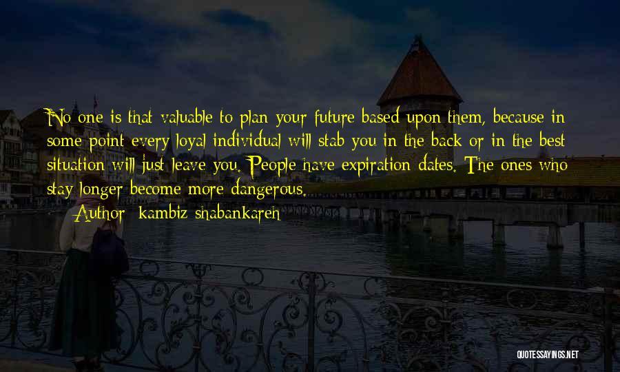 Back Stab Quotes By Kambiz Shabankareh