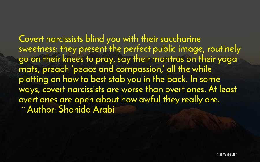 Back Stab Quotes By Shahida Arabi