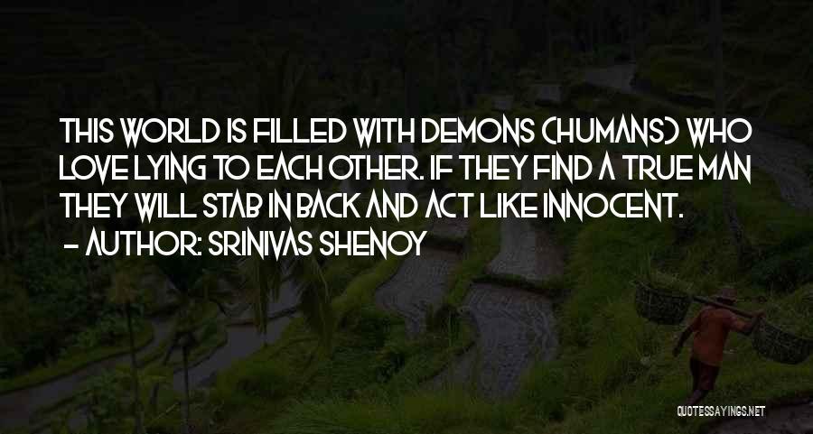 Back Stab Quotes By Srinivas Shenoy