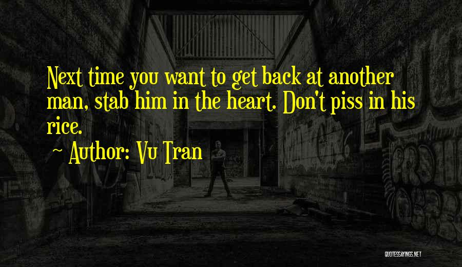 Back Stab Quotes By Vu Tran