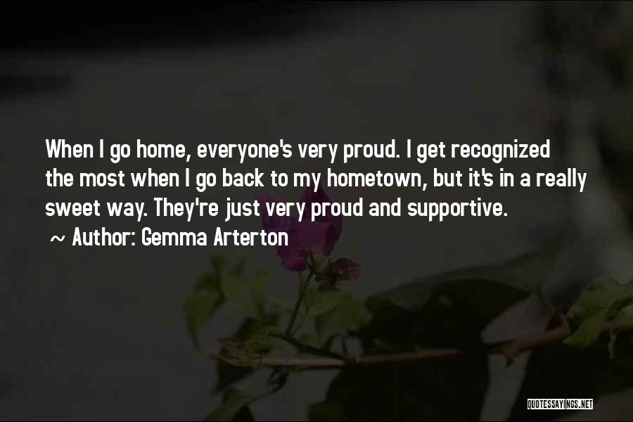Back To Sweet Home Quotes By Gemma Arterton