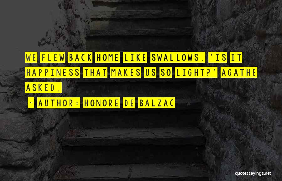 Back To Sweet Home Quotes By Honore De Balzac