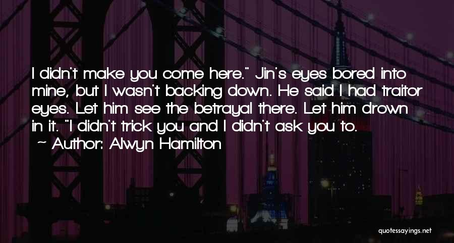 Backing Yourself Quotes By Alwyn Hamilton