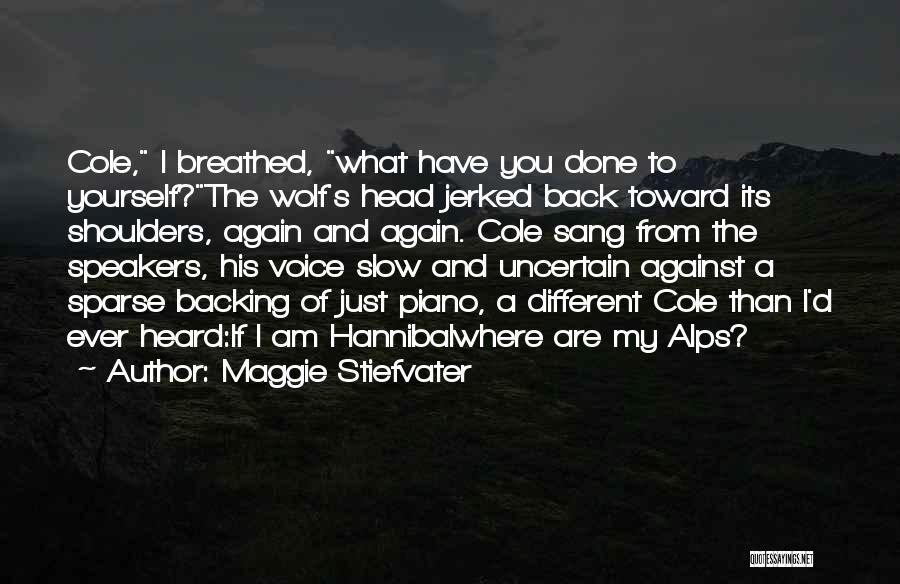 Backing Yourself Quotes By Maggie Stiefvater