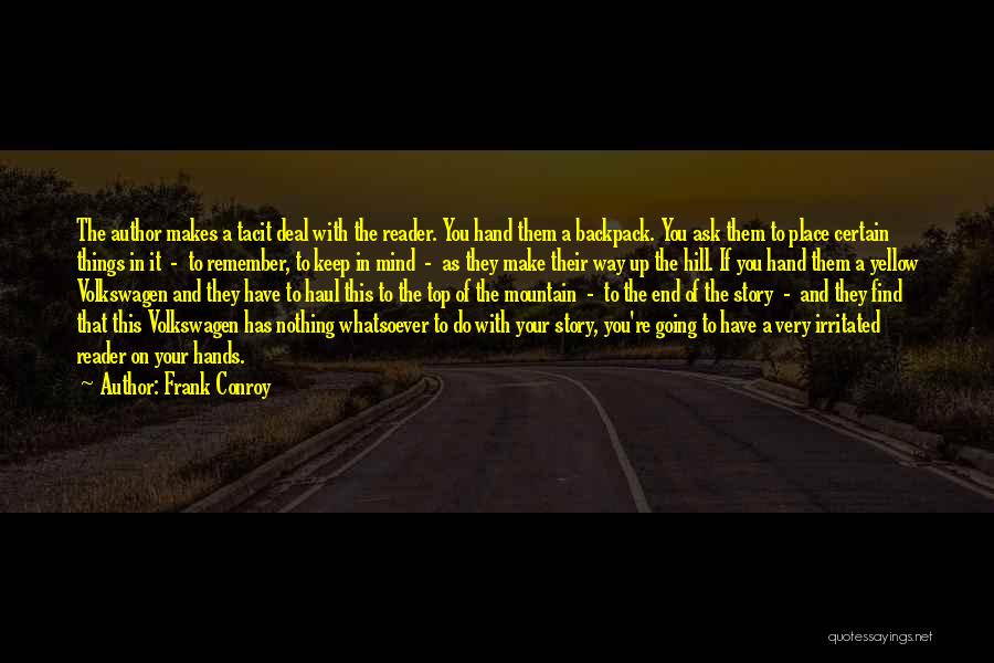 Backpack Quotes By Frank Conroy