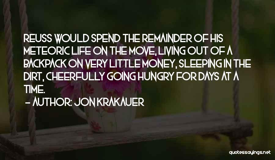 Backpack Quotes By Jon Krakauer