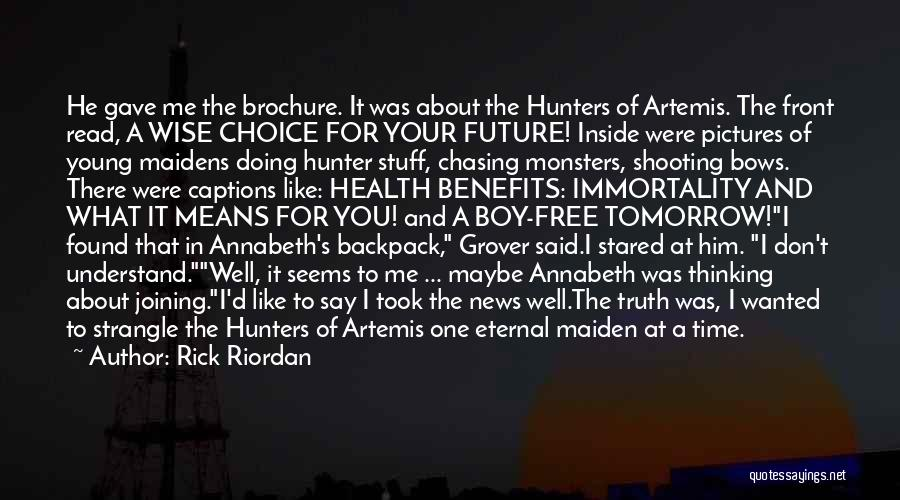 Backpack Quotes By Rick Riordan