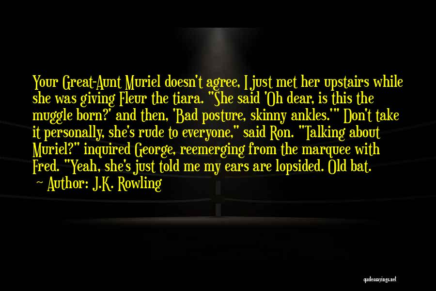 Bad Aunt Quotes By J.K. Rowling